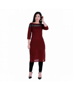 Wine red kurta