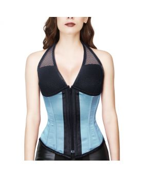 TURQUISE UNDER BUST CORSET WITH ATTACED