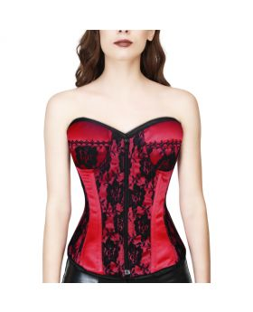 RED/BLACK GOTHIC OVERBUST CORSET