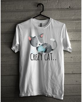Crazy cat grey