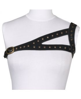 Ladies Black PU shoulder Harness
