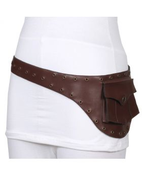 Ladies Steampunk Waist Belt With One Pouch