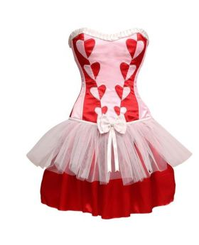 Amore ladies fashion plastic boning corset dress