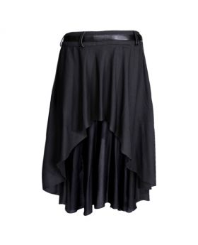 Angelonia Black Rayon Skirt