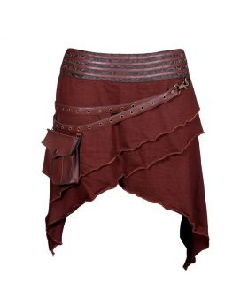 Niger Army Steampunk Cotton Knitted Skirt
