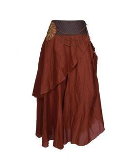 Bushman Coffee Cotton Skirt