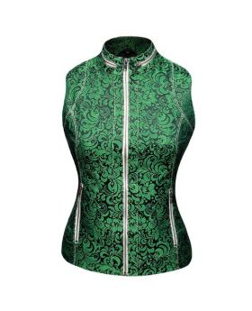 Celestine Sleeveless Jacquard Jacket