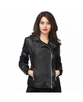 Caridad Black PU Jacket