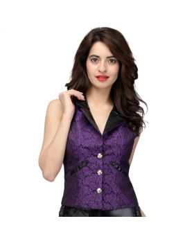 Camille Notch Collar Gothic Ladies Waistcoat
