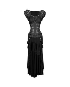 Dark Gothic Authentic Steel Boned Underbust Corset Dress