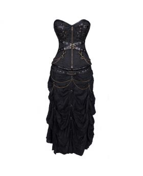 Kachina Geared Gothic Overbust Corset Dress