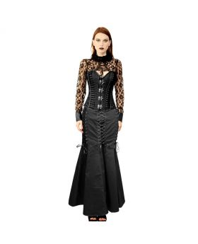 Jacinta Gothic Authentic Steel Boned Overbust Corset Dress