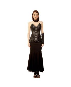 Vasyklo Gothic Authentic Steel Boned Long Lined Overbust Corset Dress