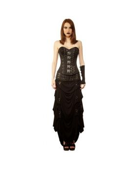 Sofiyko Gothic Authentic Steel Boned Overbust Corset Dress