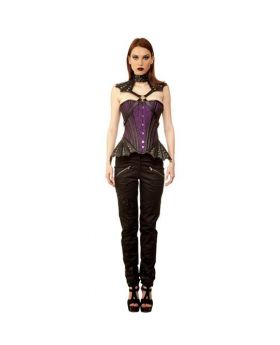 Rabhartach Gothic Authentic Steel Boned Overbust Corset Dress