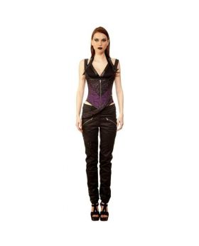 Orynko Gothic Authentic Steel Boned Underbust Corset Dress