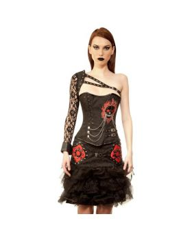 Bohdanko Gothic Ladies Authentic Steel Boned Overbust Corset Dress