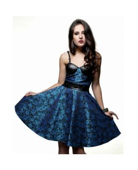 Lissandra Turquise Black Bustier Dress