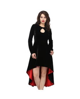 Fabiola Black & Red Gothic Dress