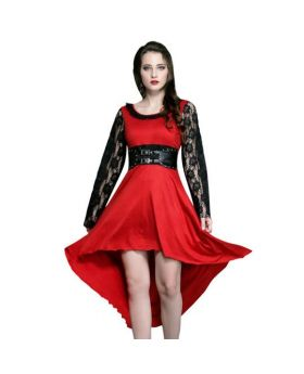 Gisella Black & Red Gothic Dress