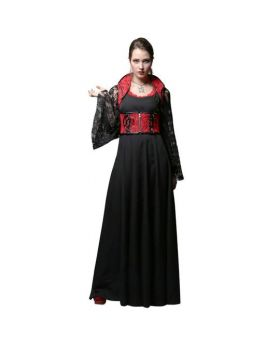 Michela Gothic Round Neck Long Dress