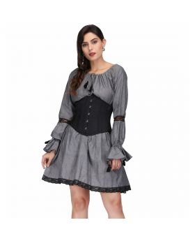 sophia grey corset dress