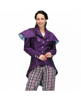 Alamea purple/turquoise reversible classic retro vest coat