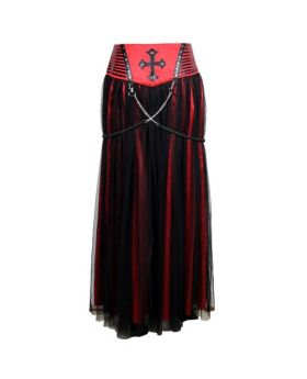 Enola Gothic Punk Long Skirt