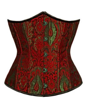 Gomer Red Authentic Steel Boned Waist Reducing Underbust Corset