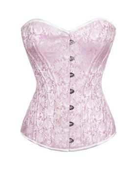 Rechal Light Pink Sweet heart Waist Training Overbust Corset