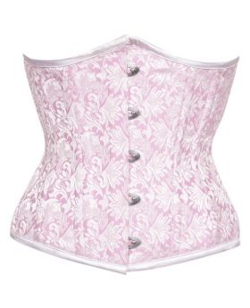 Viola light pink Authentic Steel Boned Waist Training Underbust Corset