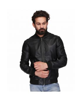 Men's Sheep Napa Black Leather Jacket