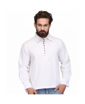 White Men's Casual Shirt