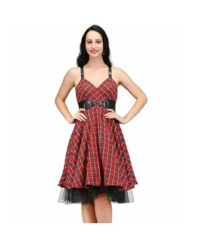 Mirabilis Kneelength Rockabilly Dress
