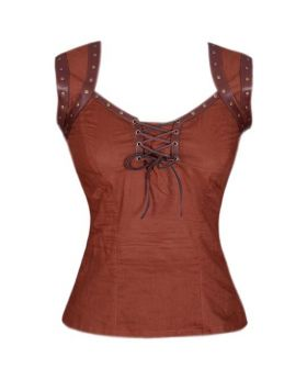 Arianna Women's Steampunk Sleeveless Top