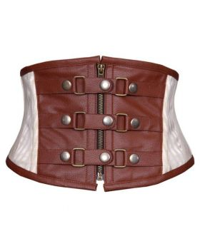 Rylea Authentic Steel Boned Steampunk Corset Belt 1