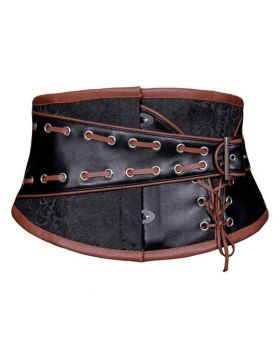 Talisha Steampunk Corset Belt Coffee Black