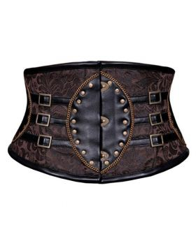 Sanaa Coffee Black Steampunk Corset Belt