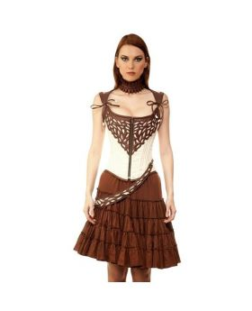 Fadey Steampunk Authentic Steel Boned Ladies Overbust Corset Dress