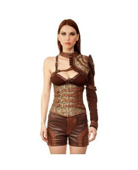 Petruso Steampunk Authentic Steel Boned Underbust Corset Dress