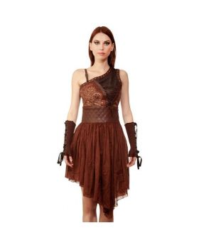 Gisella Steampunk Asymmetrical Dress