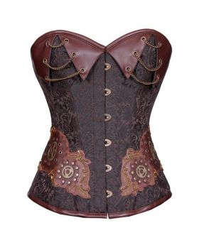 Embroideria Uno Steampunk Overbust Authentic Corset