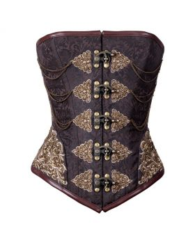 Madhavi Steampunk Authentic Steel Boned Overbust Corset