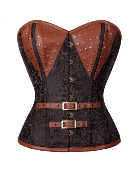 Naomi Steampunk Authentic Steel Boned Overbust Corset
