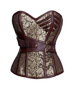 Yevgeniya Steampunk Authentic Steel Boned Overbust Corset