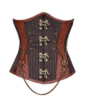 Xochit Steampunk Authentic Steel Boned Underbust Corset