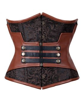 Nashwa Steampunk Authentic Steel Boned Underbust Corset