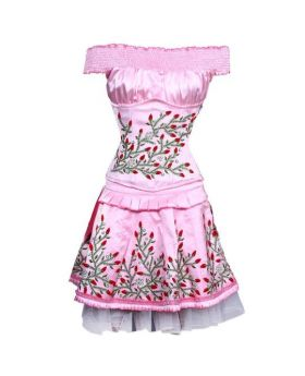 Qadira Couture Authentic Steel Boned Underbust Corset Dress