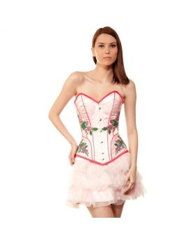 Waathiq Couture Authentic Steel Boned Long Lined Overbust Corset Dress