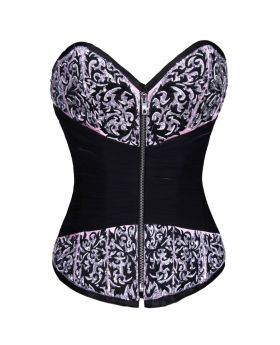 AUTHENTIC STEEL BONED PINK SATIN OVER BUST CORSET
